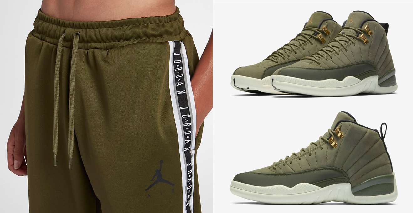 14d81647c81e18 ... reduced air jordan 12 chris paul olive pants match 4f83b 053f7 ...