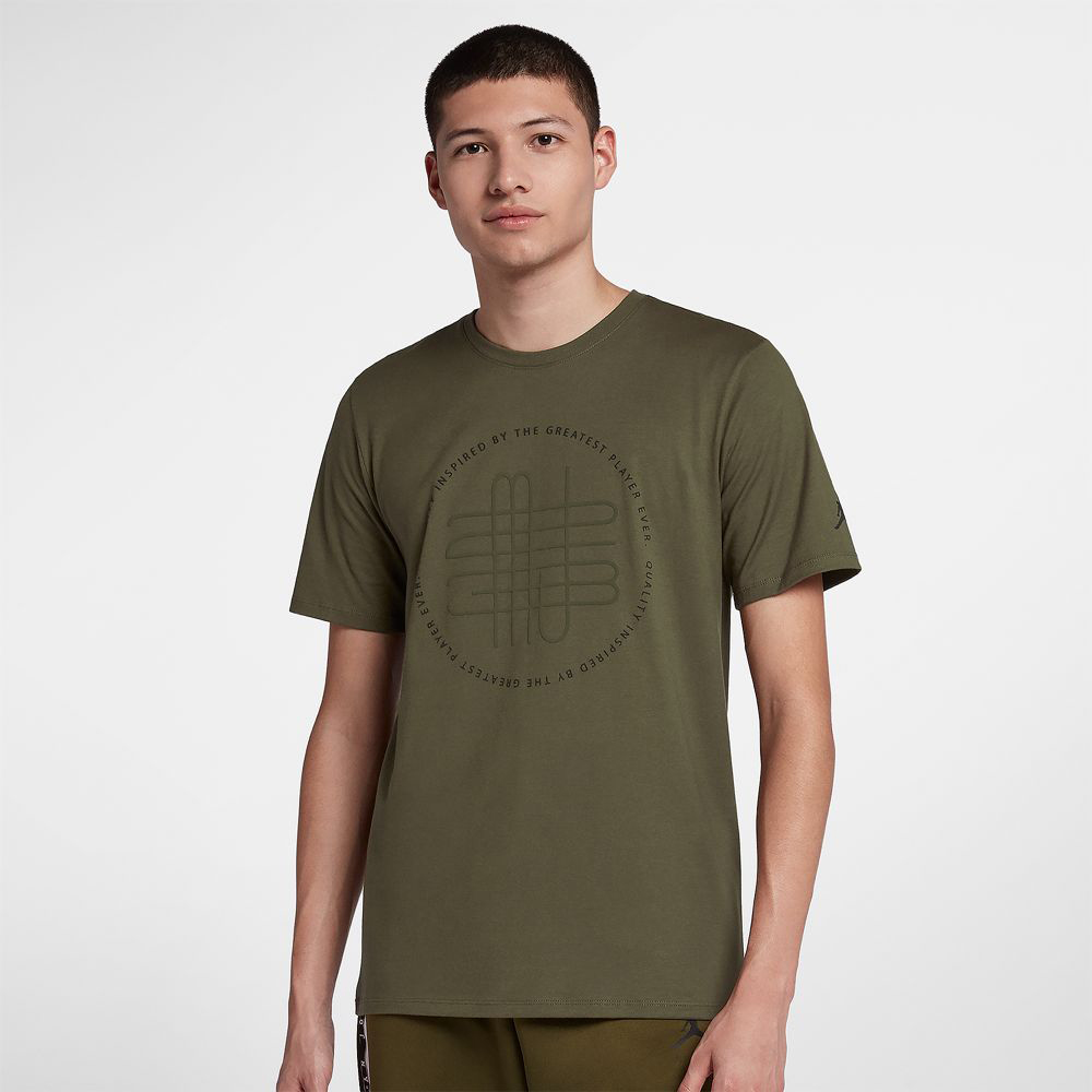 promo code 2e210 6a029 Air Jordan 12 Chris Paul 2003 Olive Shirts | SneakerFits.com
