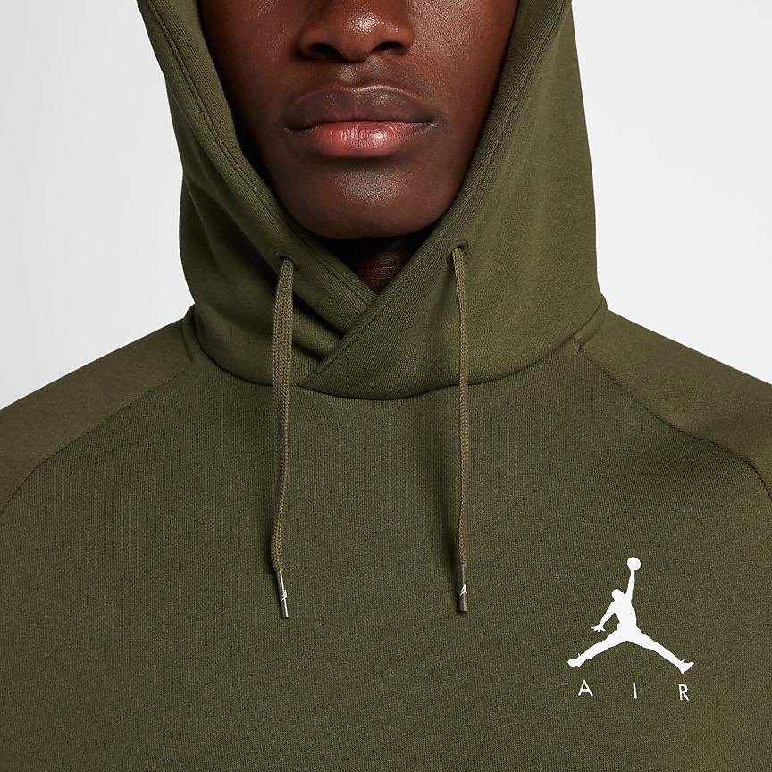 air-jordan-12-olive-chris-paul-hoodie-match-1