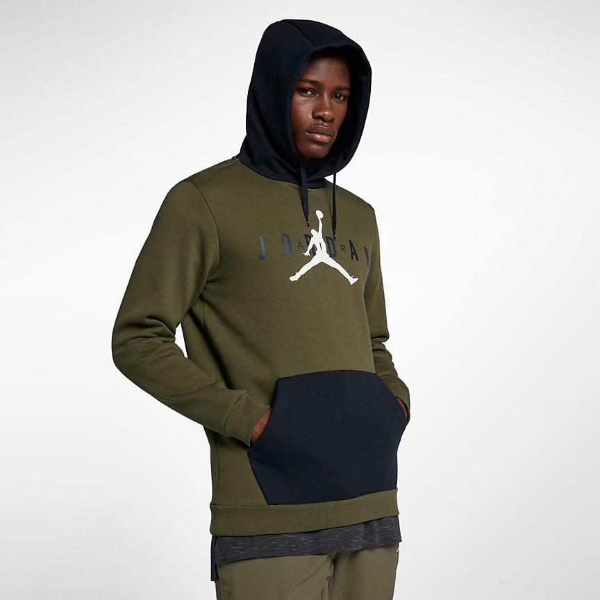 air-jordan-12-olive-chris-paul-hoodie-match-4
