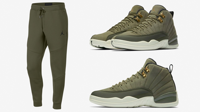 air-jordan-12-olive-chris-paul-pant