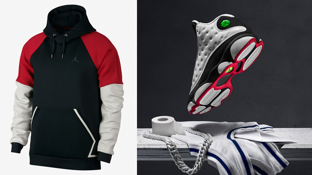 "894312799a8c Air Jordan 13 ""He Got Game"" x Jordan Sportswear Flight Tech Diamond Pullover  Hoodie"