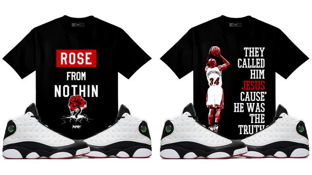 """a93d62eedc5d4b Original RUFNEK Sneaker Shirts to Match the Air Jordan 13 """"He Got Game"""""""