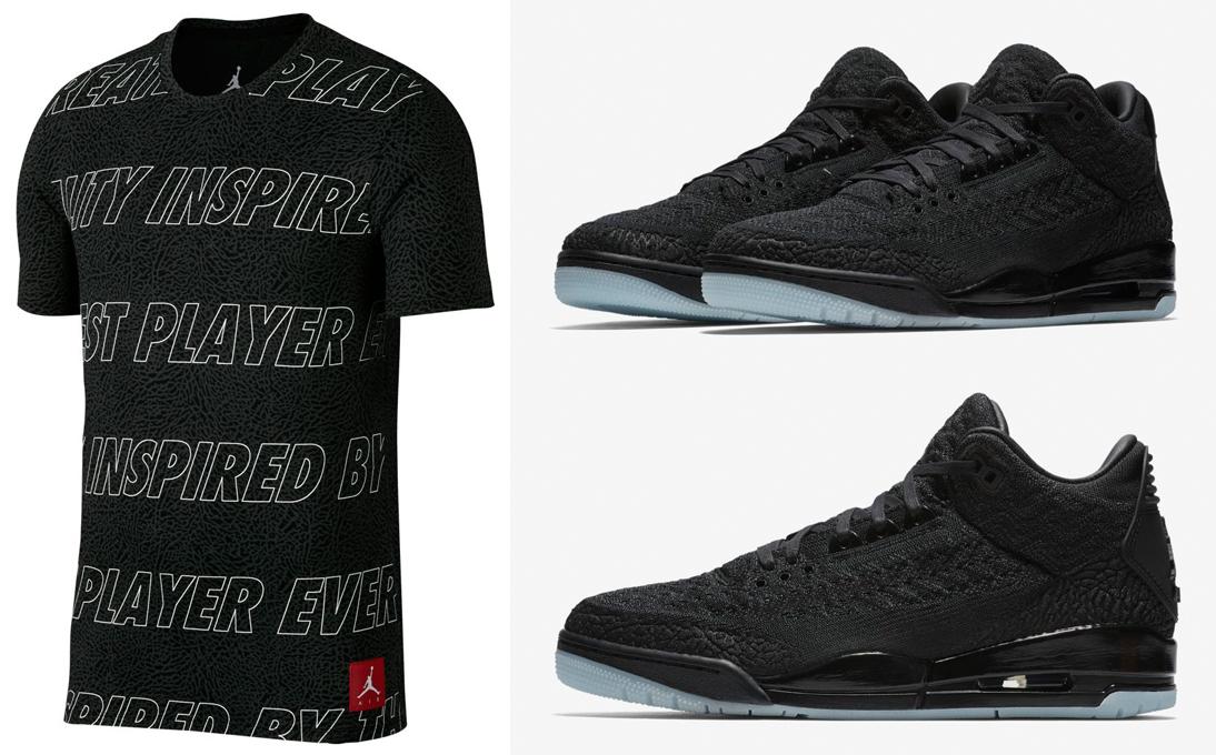 uk availability 924b1 42e20 Air Jordan 3 Flyknit Black Shirts | SneakerFits.com