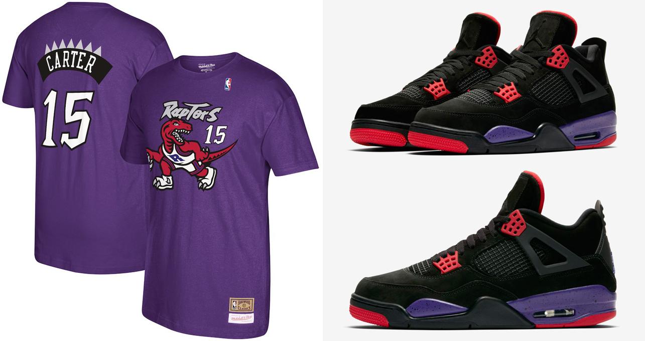 official photos b46a8 df7b6 Air Jordan 4 Toronto Raptors Shirts | SneakerFits.com