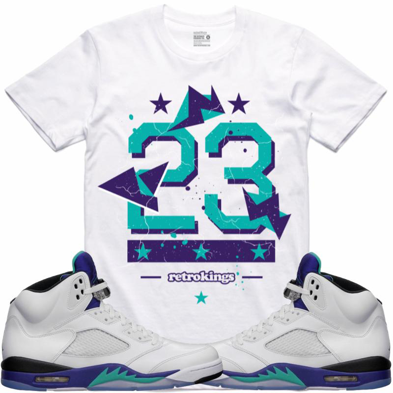 a7f5304e722 Jordan 5 Grape Fresh Prince Sneaker Shirts by Retro Kings ...