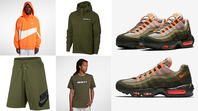 "72576ed13a Release Roundup: The Best Clothing and Gear to Match the Nike Air Max 95  ""Olive and Total Orange"""