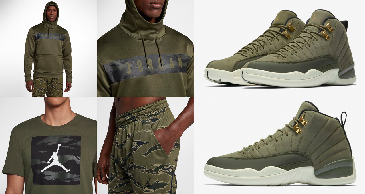 cheap for discount a1139 235b3 Chris Paul Jordan 12 Olive Camo Clothing | SneakerFits.com