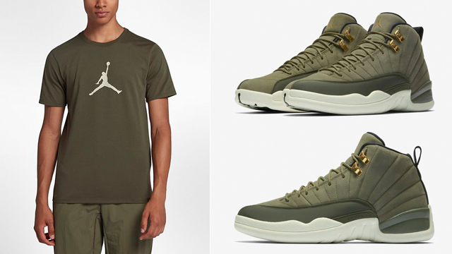 chris-paul-jordan-12-olive-shirt-match