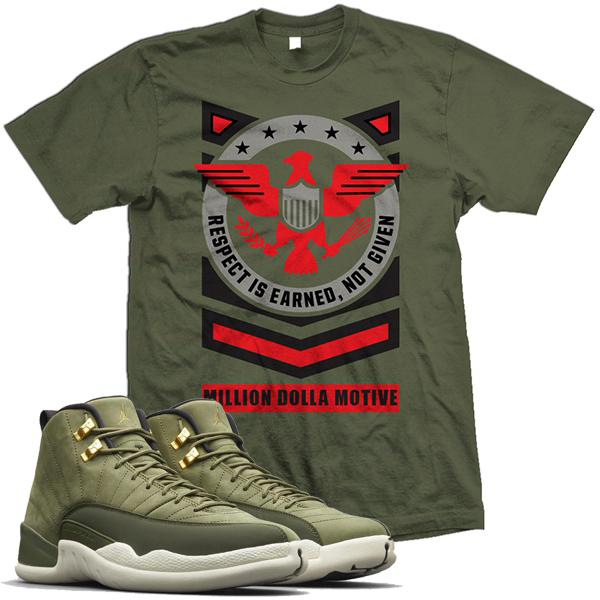 chris-paul-jordan-12-olive-sneaker-shirt-million-dolla-motive-mdm-2