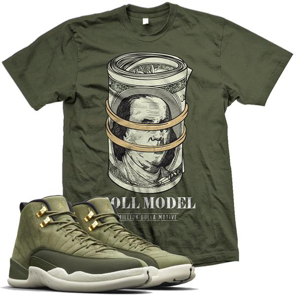 chris-paul-jordan-12-olive-sneaker-shirt-million-dolla-motive-mdm-4