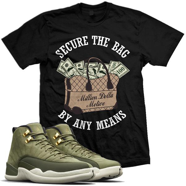 chris-paul-jordan-12-olive-sneaker-shirt-million-dolla-motive-mdm-5