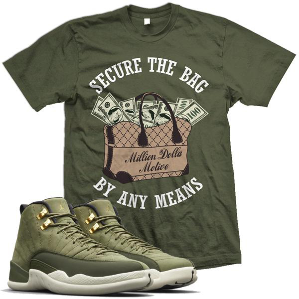 chris-paul-jordan-12-olive-sneaker-shirt-million-dolla-motive-mdm-6