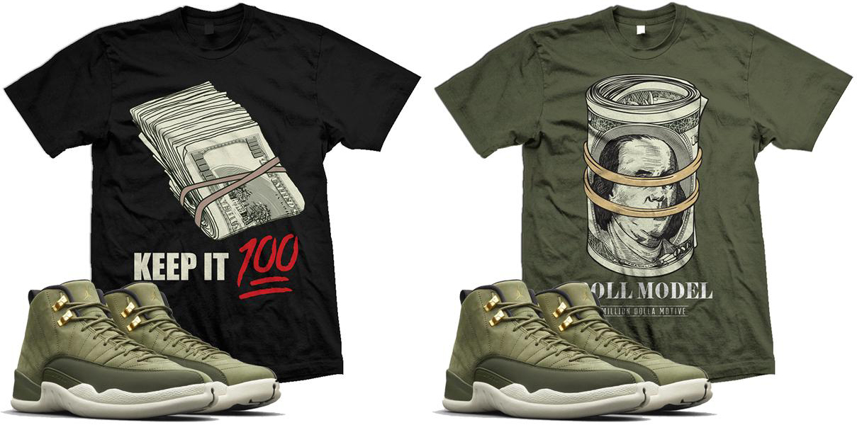 best service d20b3 ea3e2 Clothing and Hats to Match Jordan 12 Olive Chris Paul ...