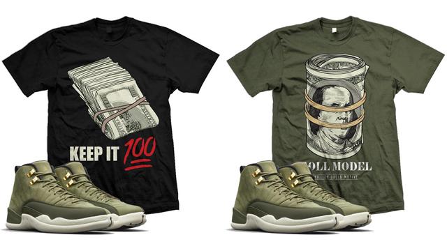 """61f4d065ebbaa3 Air Jordan 12 Chris Paul """"Class of 2003"""" x Million Dolla Motive Sneaker  Match T-Shirts. Matching ..."""