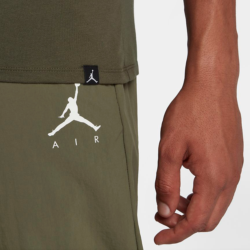 chris-paul-jordan-12-olive-t-shirt-match-3
