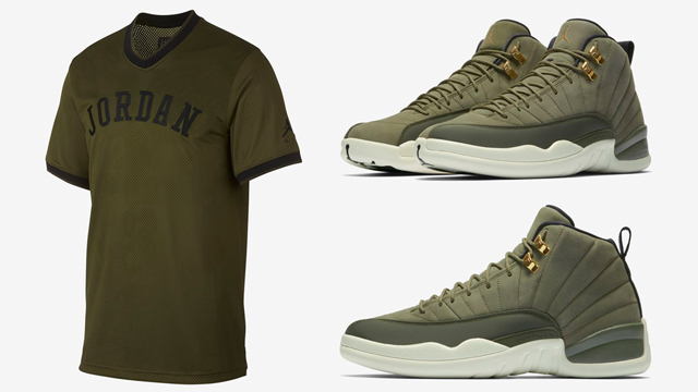 jordan-12-chris-paul-2003-olive-jersey-match