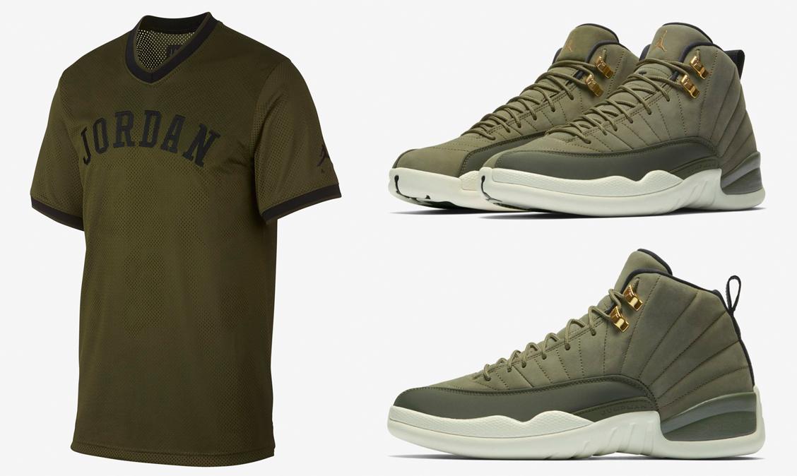 jordan-12-chris-paul-2003-olive-jersey
