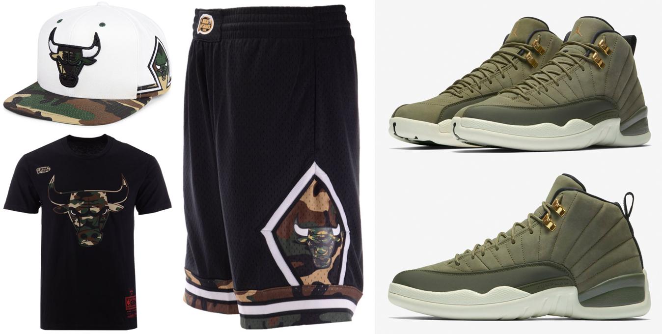 jordan-12-chris-paul-olive-camo-bulls-clothing