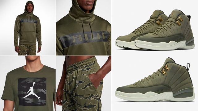 cheap for discount 80102 76ec9 Chris Paul Jordan 12 Olive Camo Clothing | SneakerFits.com