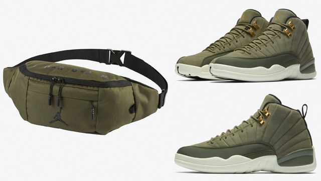 jordan-12-chris-paul-olive-crossbody-bag-hip-fanny-pack