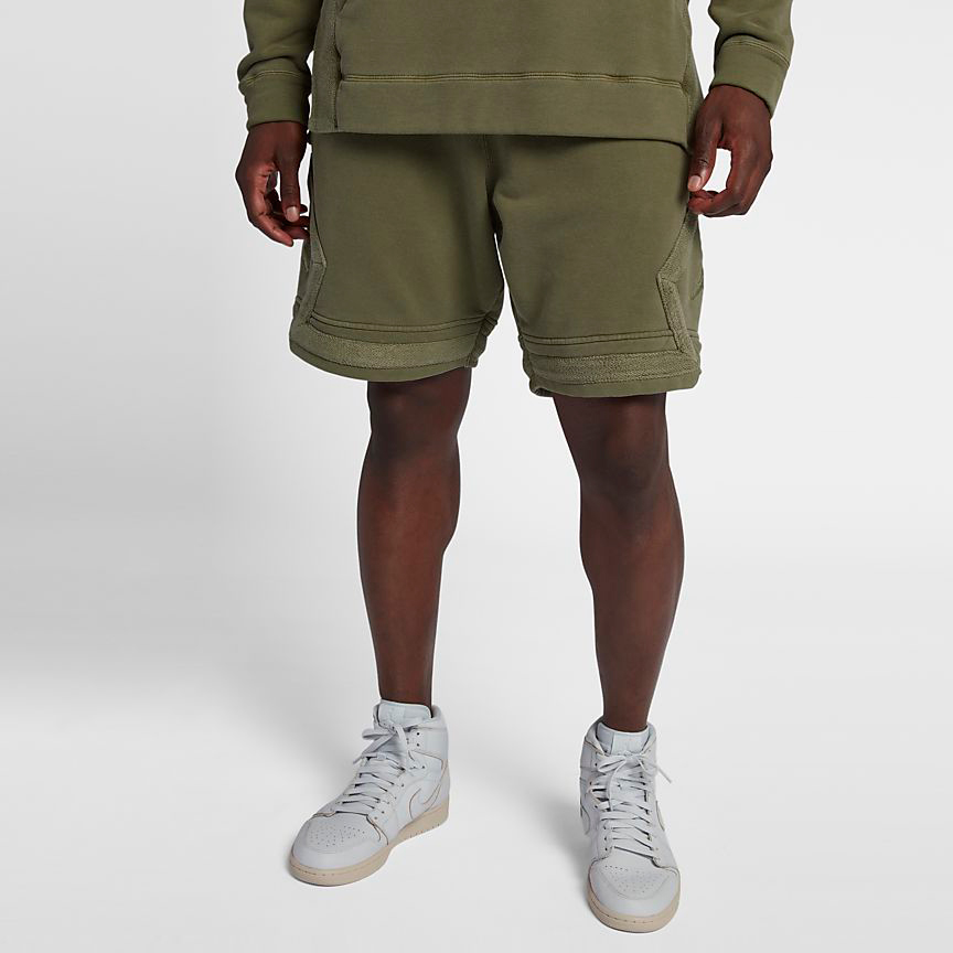 jordan-12-chris-paul-olive-shorts-match-4