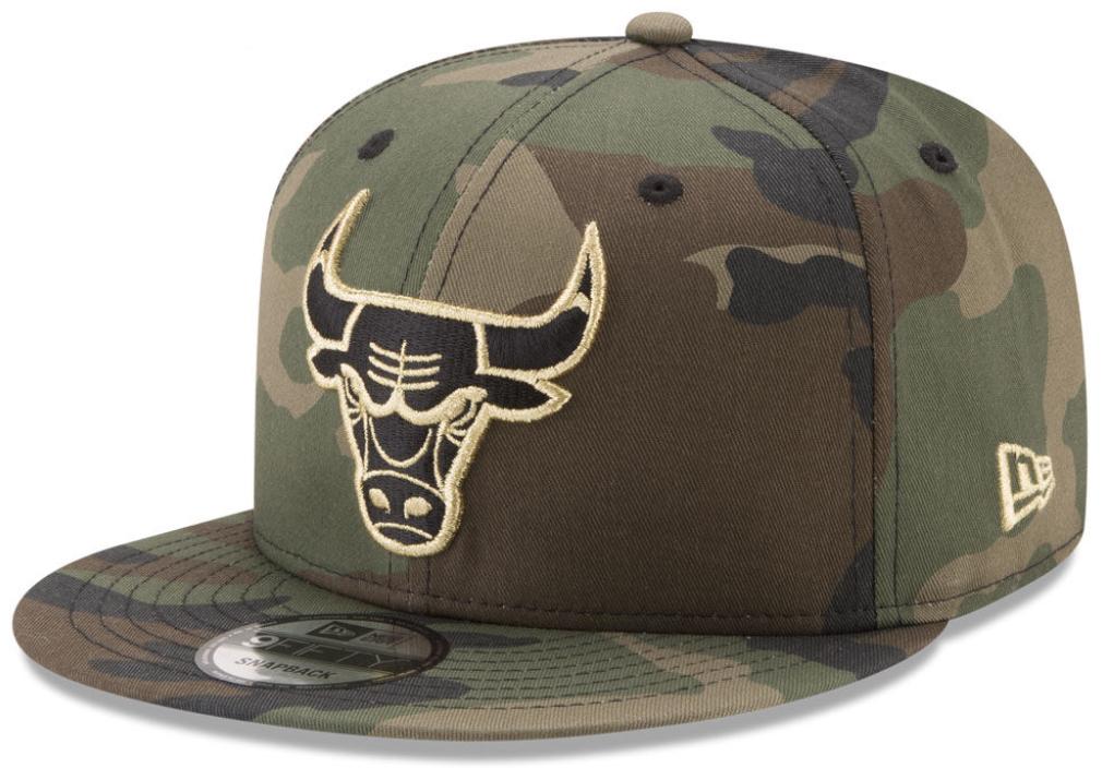 jordan-12-olive-camo-bulls-hat-match