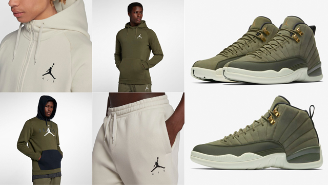 online retailer 86d3e 0243d Air Jordan 12 Chris Paul Olive Clothing | SneakerFits.com