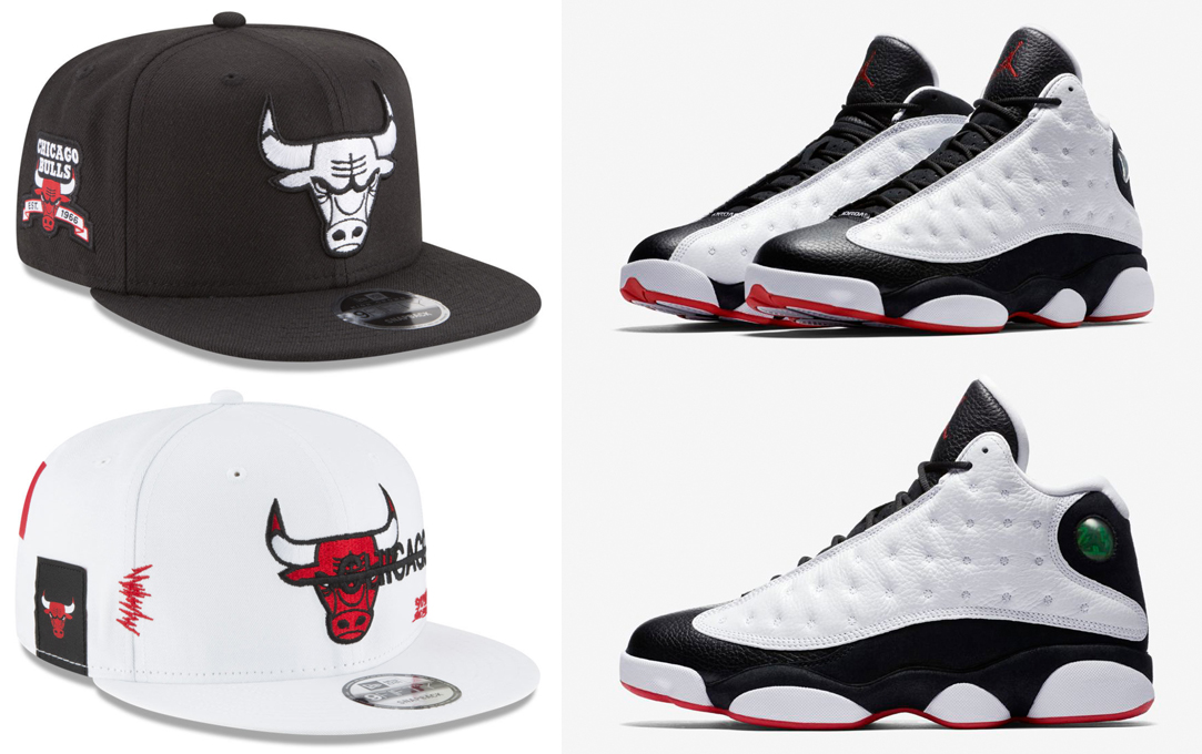 "49e49381846e Air Jordan 13 ""He Got Game"" x Chicago Bulls New Era 9FIFTY Snapback Caps"