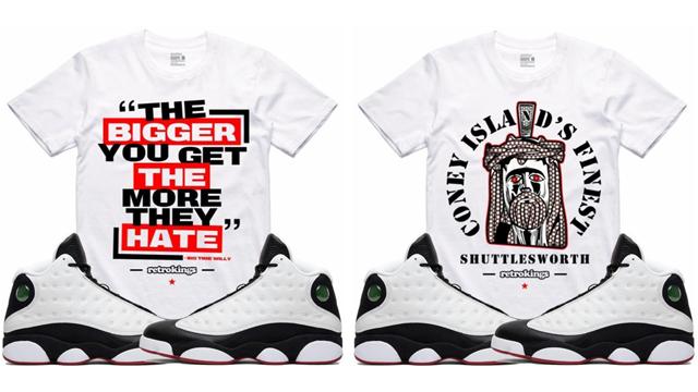 "03b27a781a43d5 Retro Kings Sneaker Tees to Match the Air Jordan 13 ""He Got Game"""