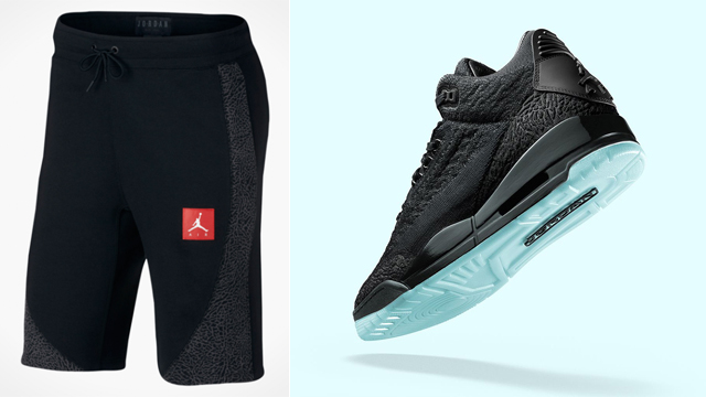 jordan-3-black-flyknit-shorts