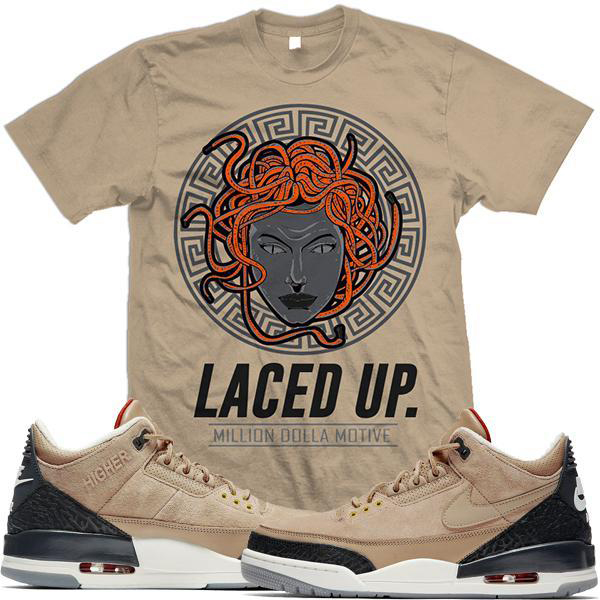 0167c0f35c49f1 Air Jordan 3 JDT Bio Beige Sneaker Shirts by Million Dolla Motive ...