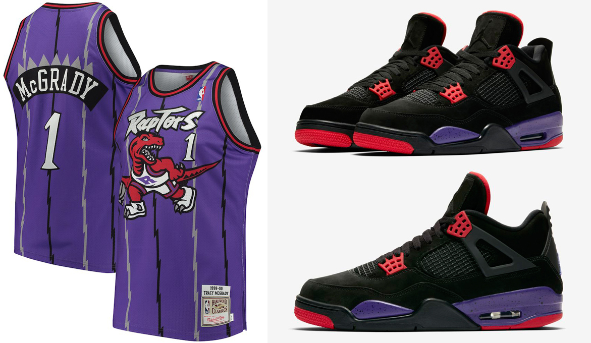 timeless design 6e052 2f83d Jordan 4 Raptors Retro Basketball Jerseys | SneakerFits.com