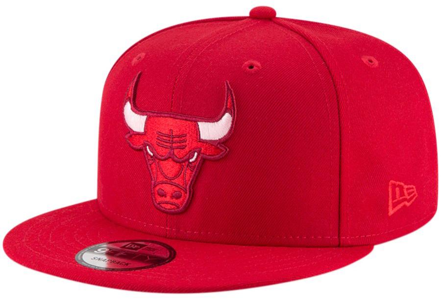 jordan-4-raptors-bulls-snapback-hat-red-1