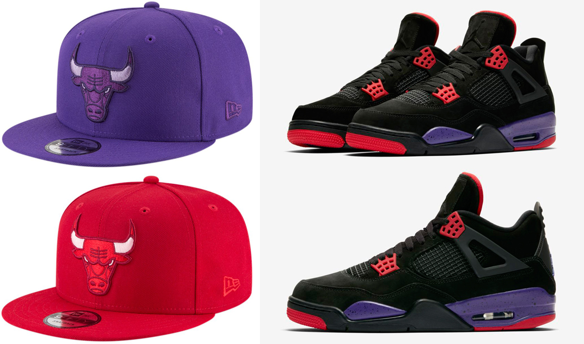 "Air Jordan 4 ""Raptors"" x Chicago Bulls New Era League Pop 9FIFTY Snapback  Caps 0d499997e0a"