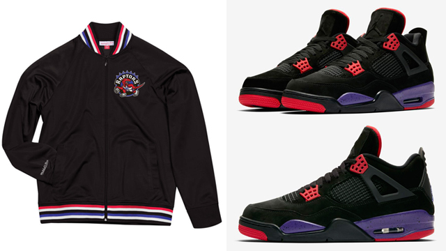 "d794559c8e2 Air Jordan 4 ""Raptors"" x Mitchell & Ness Toronto Raptors Retro Clothing to  Match"