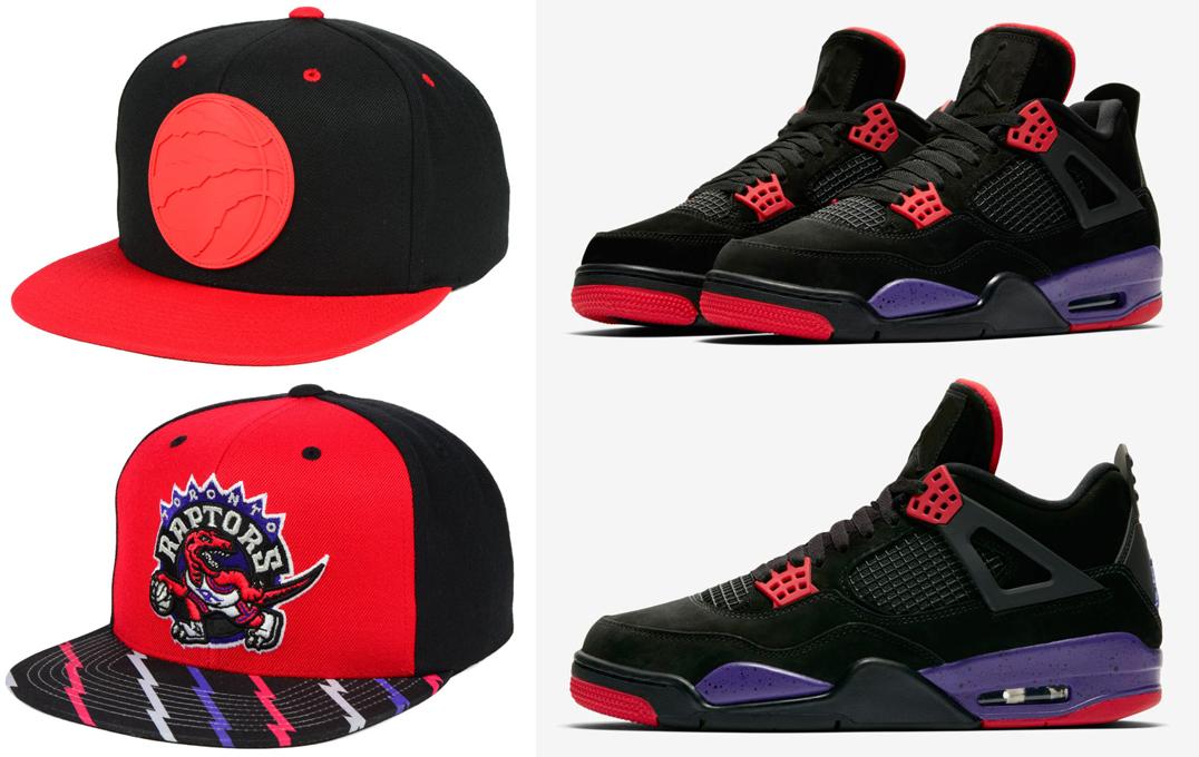 """Air Jordan 4 """"Raptors"""" x Mitchell   Ness Toronto Raptors Hats to Match b41f197dd39"""