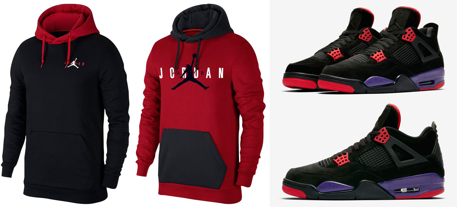 "dd66e02c23da91 Air Jordan 4 ""Raptors"" x Jordan Jumpman Air Fleece Hoodies to Match"