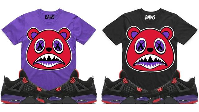"wholesale dealer 97ce3 addf7 Air Jordan 4 ""Raptors"" x BAWS Sneaker Match Tees"