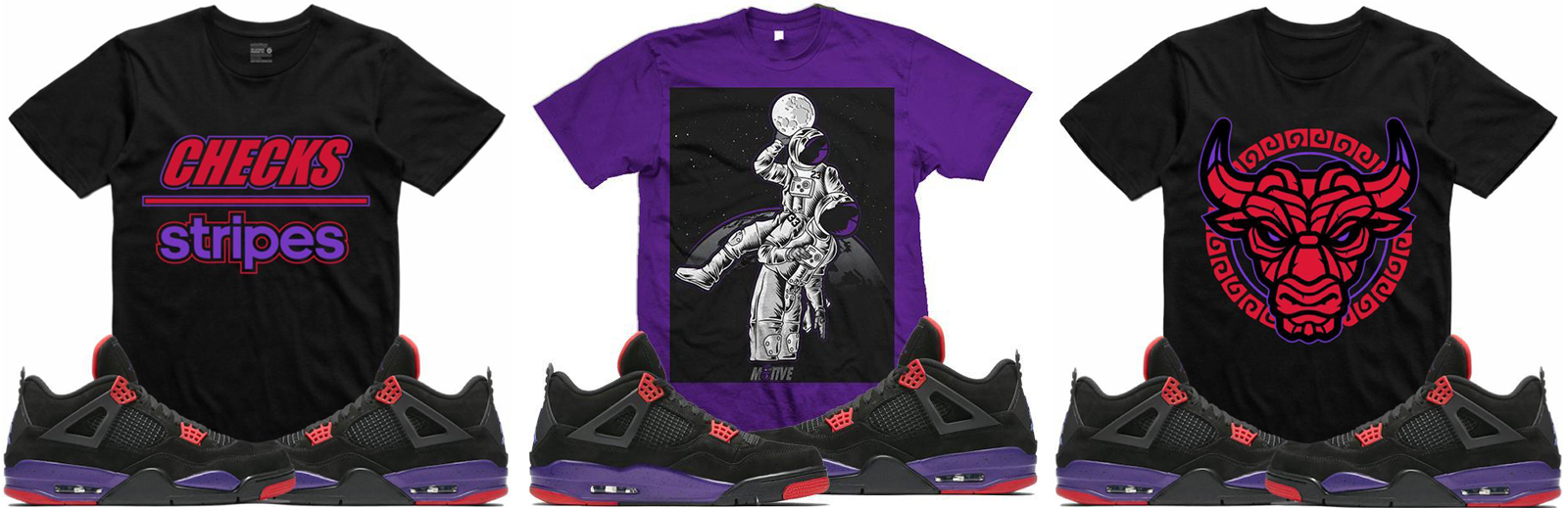 1489d9557552d5 Sneaker Shirts to Match Jordan 4 Raptors