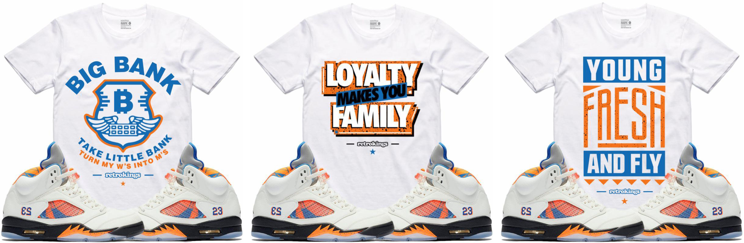 632e3ef354a7 Jordan 5 International Flight Sneaker Tees by Retro Kings ...