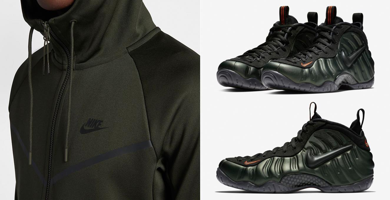 "f1ee6a8cd76a2 Nike Air Foamposite Pro ""Sequoia"" x Sequoia Nike Sportswear Tech Icon  Windrunner Hoodie"