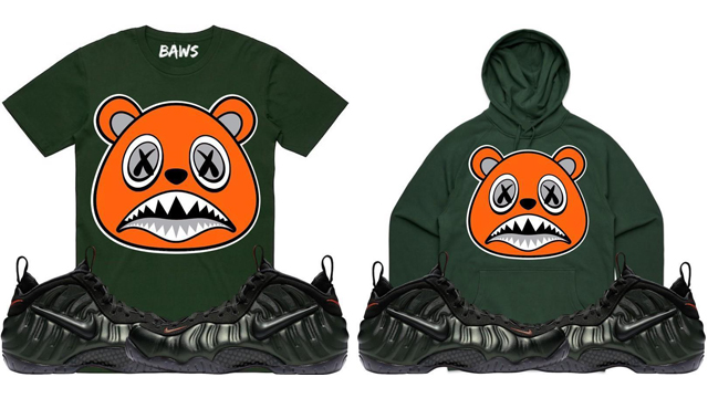 a9341a8cf6d1 sequoia foamposite nike hoodie Source · Nike Foamposite Pro Sequoia Sneaker  Shirts by BAWS SneakerFits com