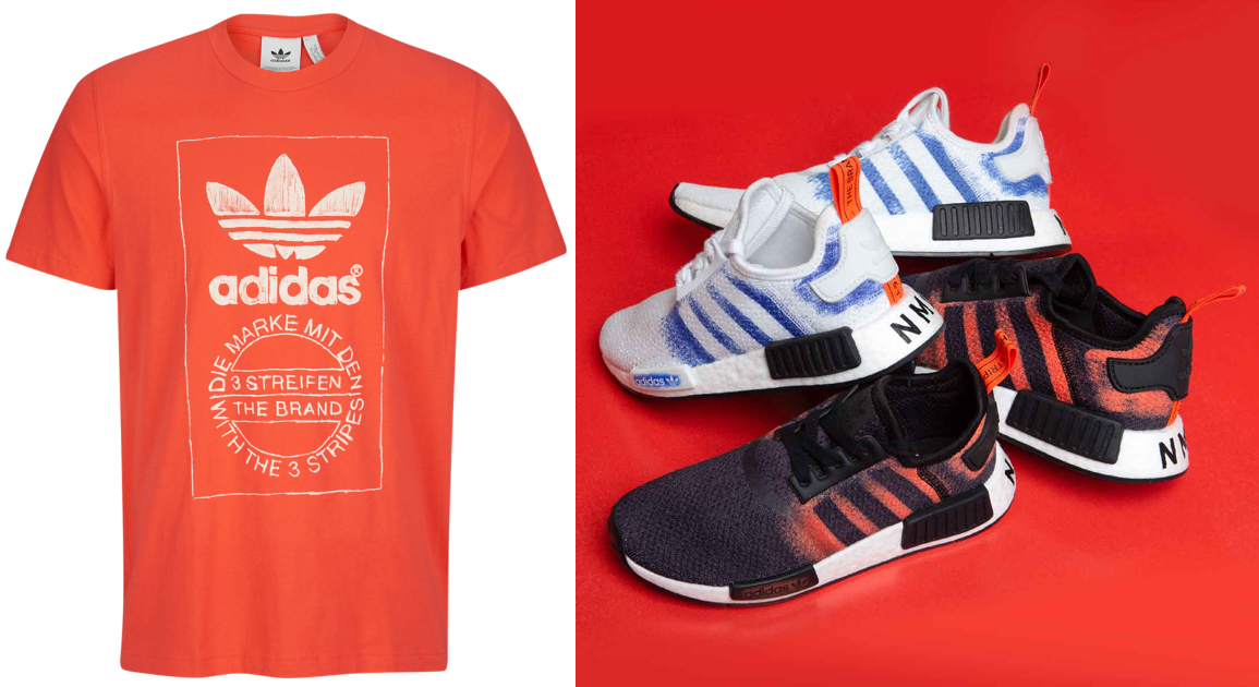 "7cdacfea9 adidas Originals NMD R1 ""Stencil Pack"" x adidas Originals Hand Drawn T- Shirts to Match"
