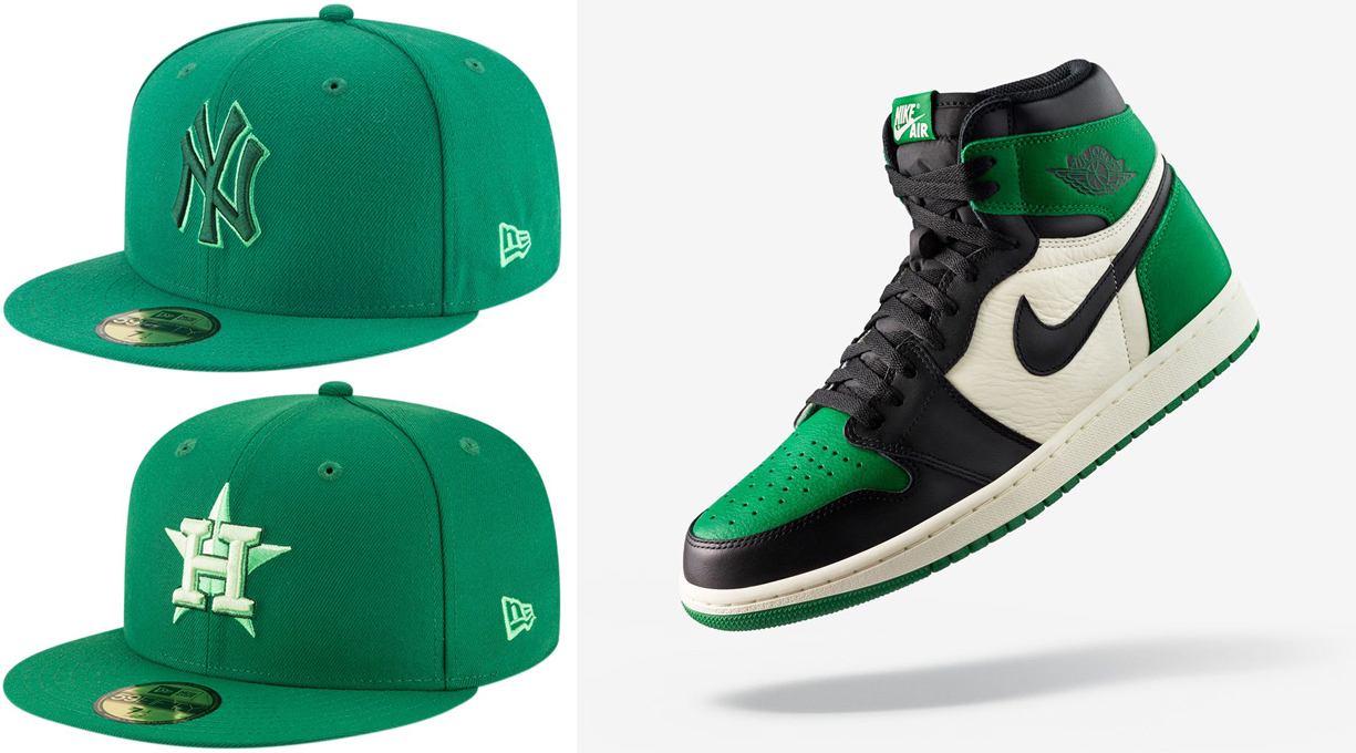 air-jordan-1-pine-green-hats-to-match
