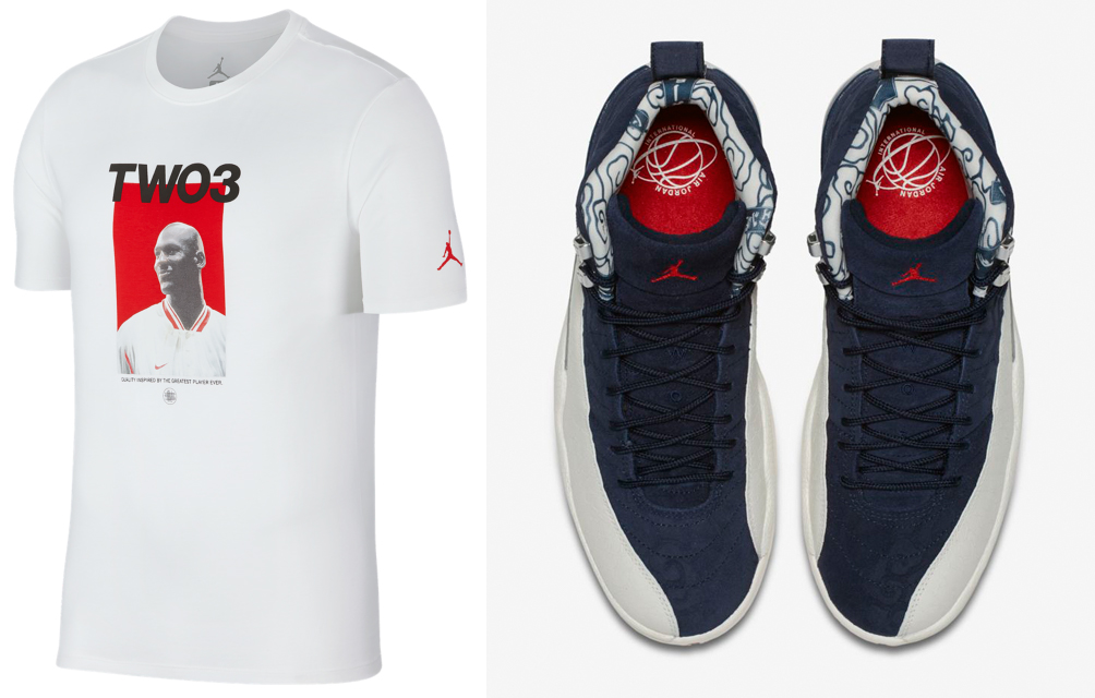 42e6bdc4d91 Jordan 12 International Flight Tokyo Tee | SneakerFits.com