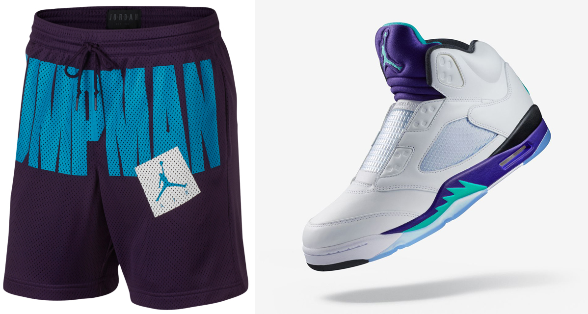 promo code 92c34 8a395 Air Jordan 5 Fresh Prince Shorts to Match | SneakerFits.com