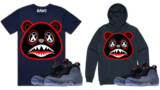 "f67e4433242f Nike Air Foamposite One ""Denim"" x BAWS Sneaker T-Shirt and Hoodie to Match"