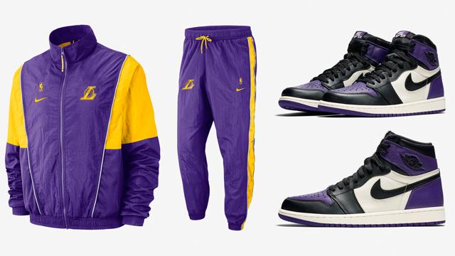jordan-1-court-purple-lakers-apparel-match