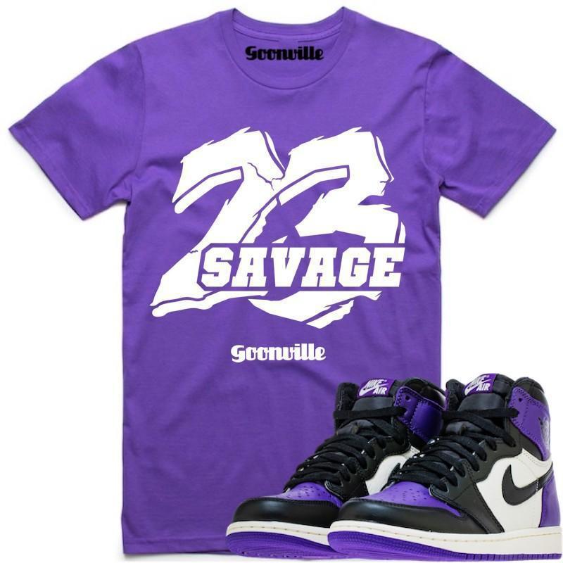 85bcedb3e29786 Sneaker Shirts for Jordan 1 Pine Green and Court Purple ...